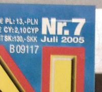 Popcorn Juli 2005 Ausschnitt am Kisok