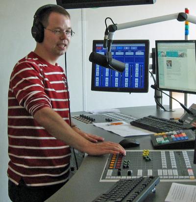 Björn im LübeckFM-Studio