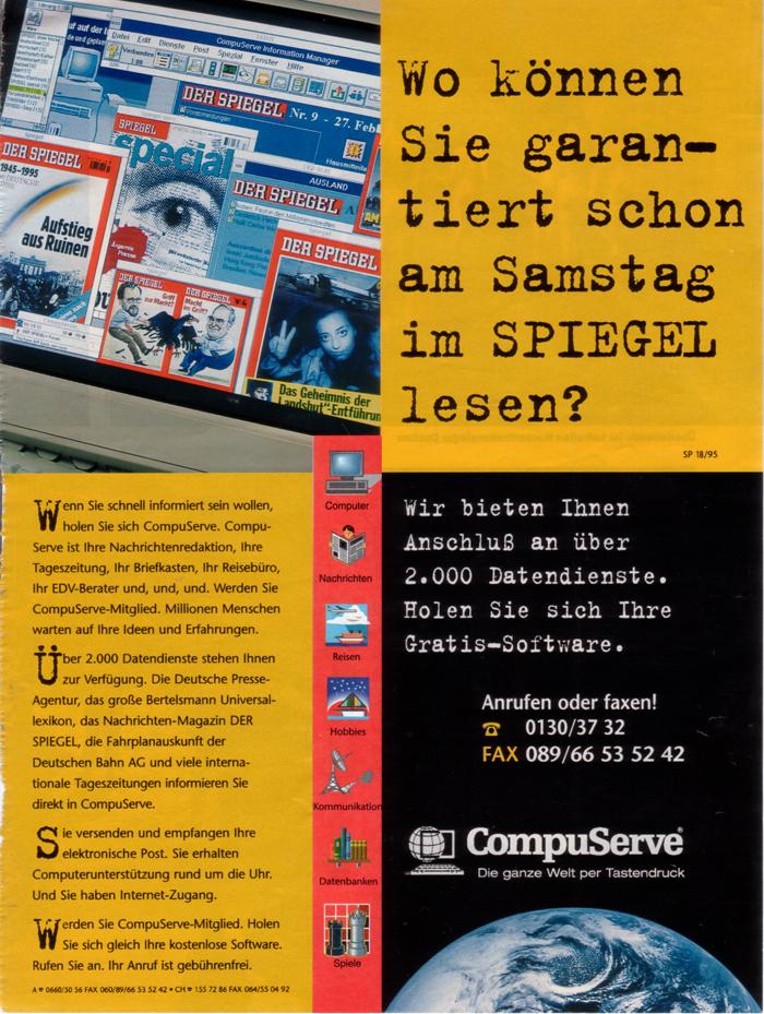Spiegel Compuserve 1995
