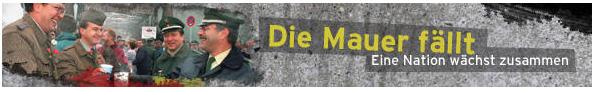 Banner Mauerfall Deutsche Welle
