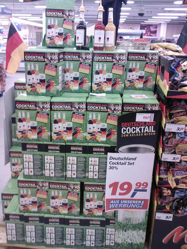 Deutschland-Cocktail im real-Markt