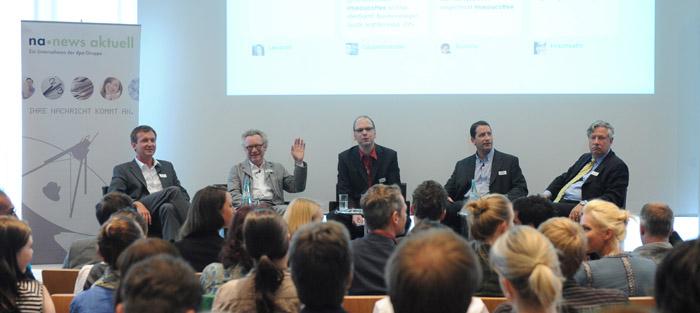 Panel beim Mediacoffe in München (Bild: newsaktuell obs)