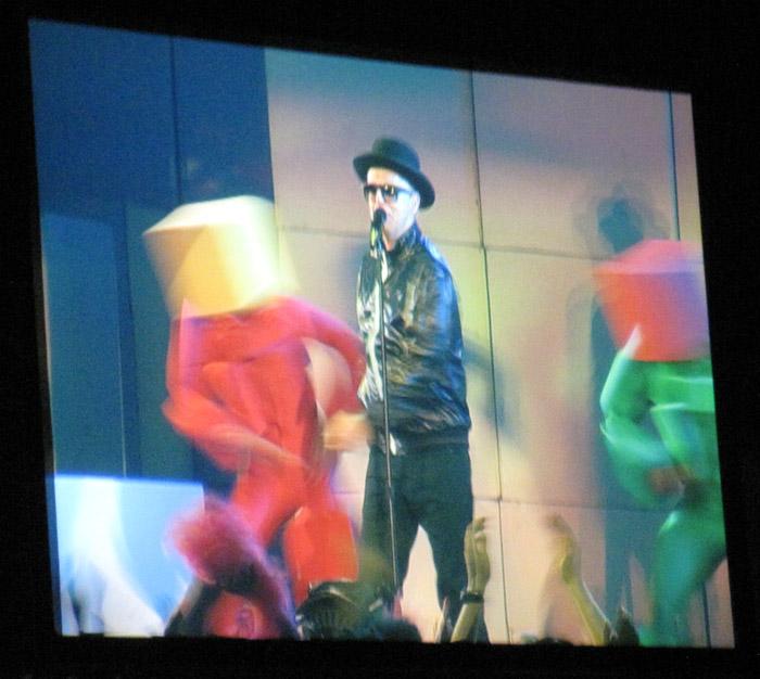 Neil Tennant verkleidet als Elton John