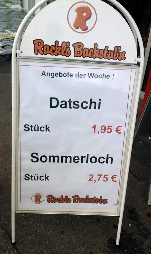 Sommerloch beim Bäcker für 2,75 Euro