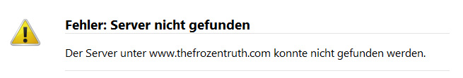 Fehlermeldung thefrozentruth.com