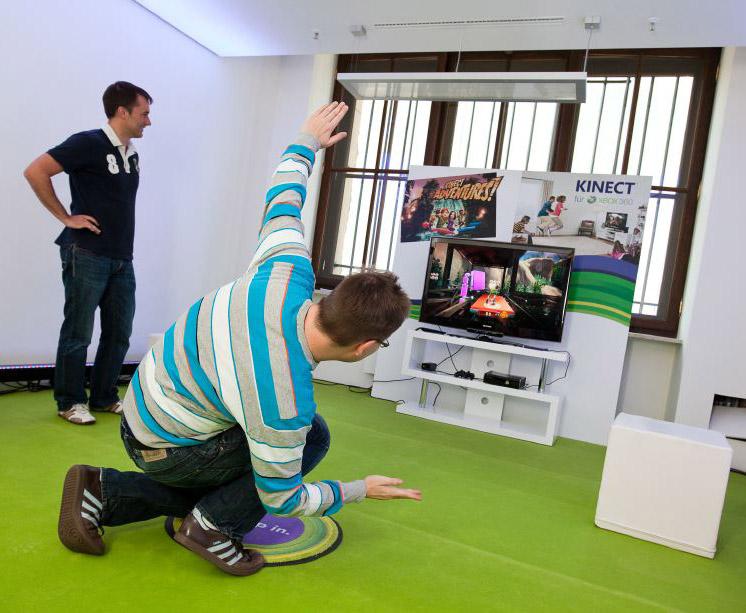 Kinect im Selbsttest (Foto: Thorsten Jochim)