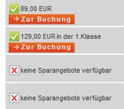 DB - kein Sparpreis Angebot