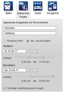 DB Sparpreis-Finder - Suche
