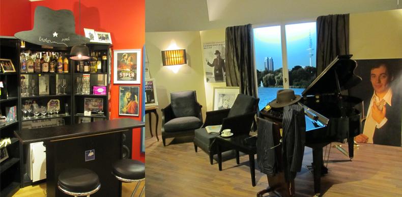 Hotelbar und Zimmer Udo Lindenberg