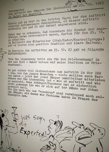 Stasi-Protokoll zum Auftritt im Palast der Republik 1983